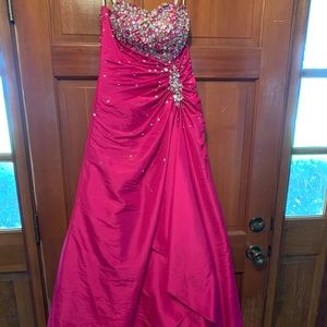 Tony Bowls pink gown with embellishments